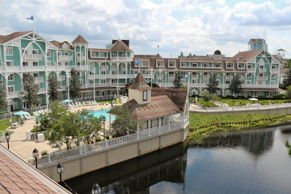 view of Disney\'s Beach Club Villas from one of the rooms