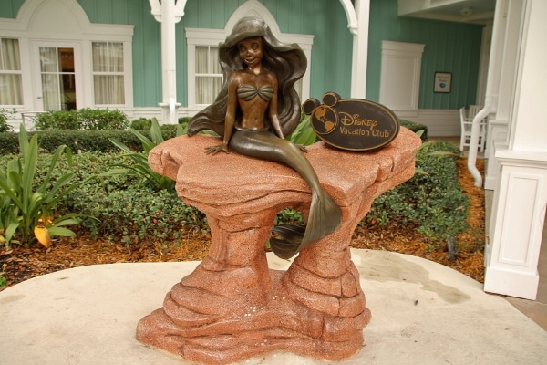 A statue of Ariel, the Little Mermaid