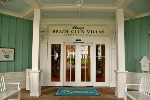 entrance to Disney\'s Beach Club Villas