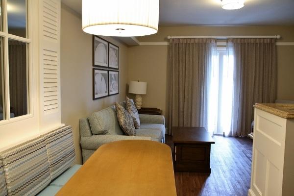 A living room area in a hotel villa