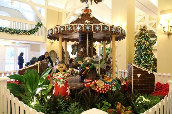 a carousel made of gingerbread