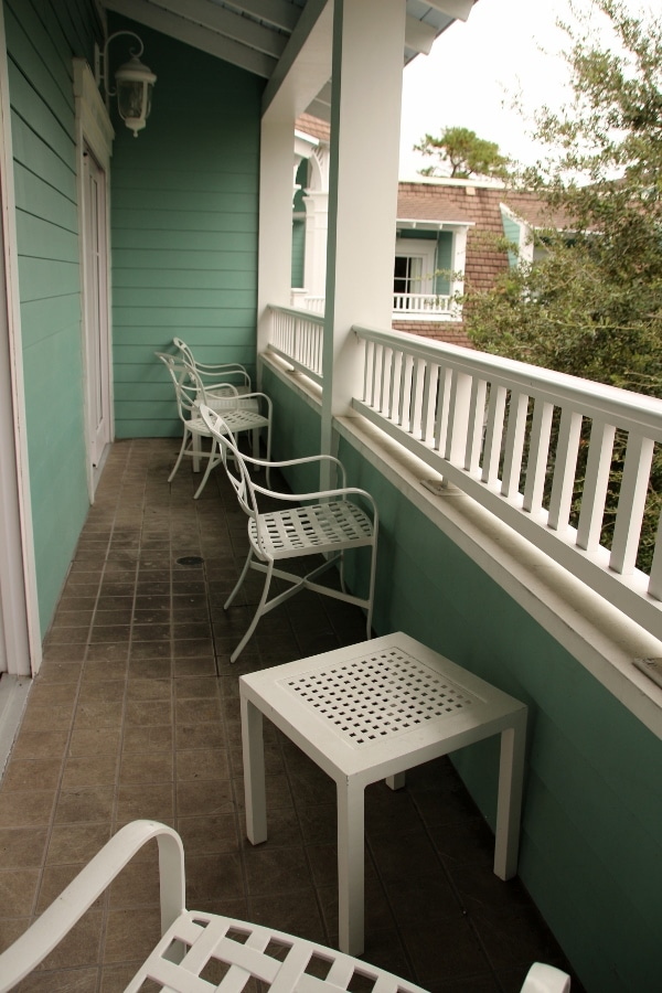 chairs on a hotel room balcony