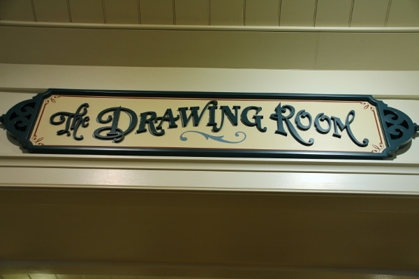 a sign that says The Drawing Room