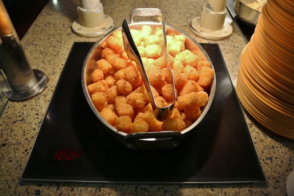 fried tater tots on a buffet