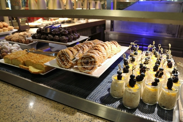 more breakfast pastries on a buffet