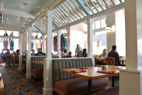 seating inside Cape May Cafe at Disney\'s Beach Club Resort