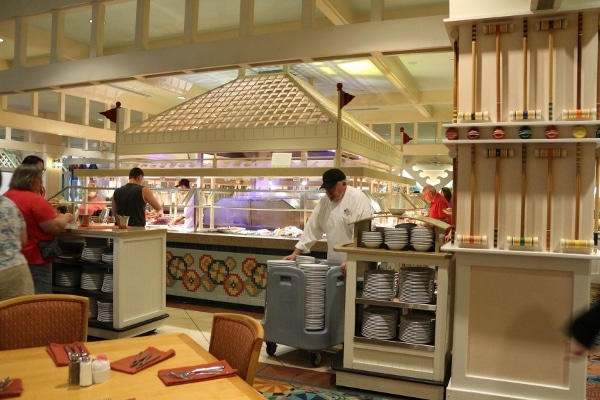 a view of the buffet area of Cape May Cafe