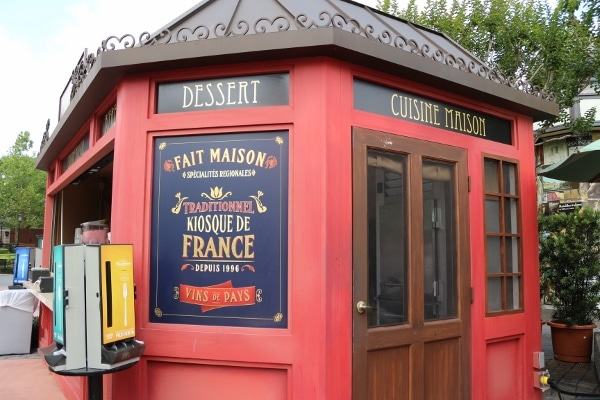 a French themed food marketplace building in Epcot