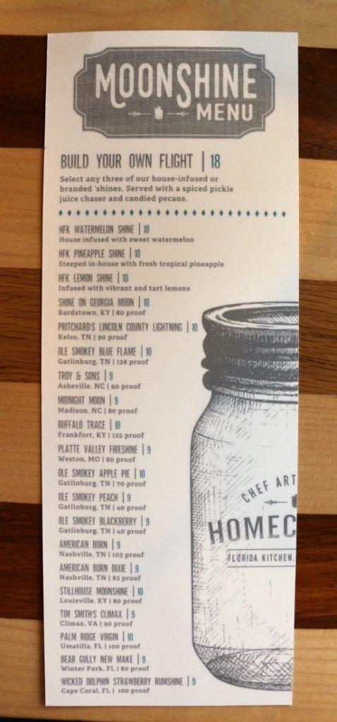 moonshine drink menu