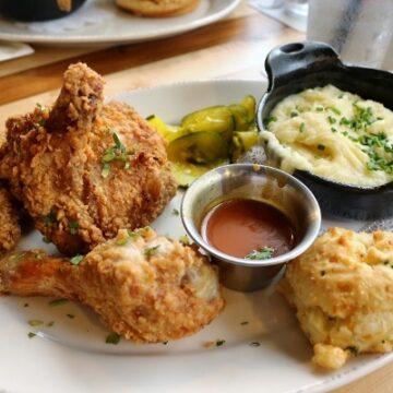 Fried Chicken at Homecomin' at Disney Springs