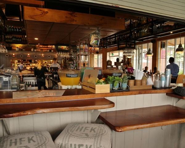 view of a restaurant bar