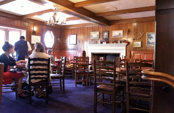 one of the dining rooms in Liberty Tree Tavern