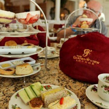 Afternoon tea at Garden View Tea Room at Disney World