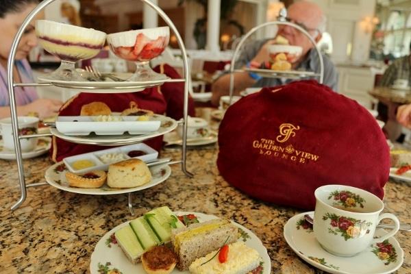 an afternoon tea food display