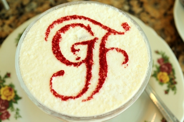 overhead view of a white surface topped with the letters GF
