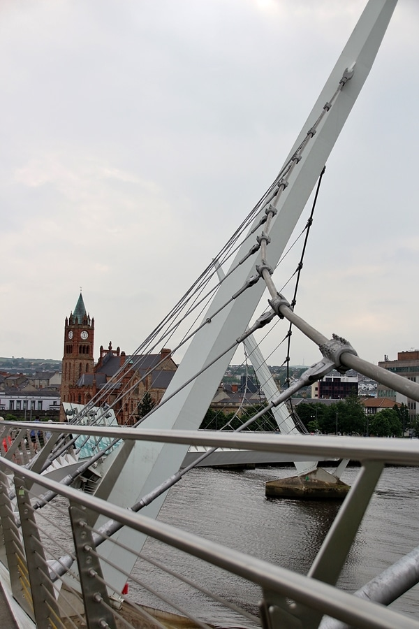 view from the Peace Bridge in Derry