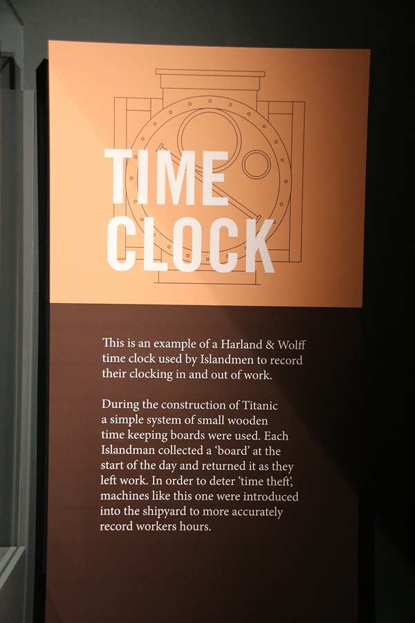a sign that says Time Clock
