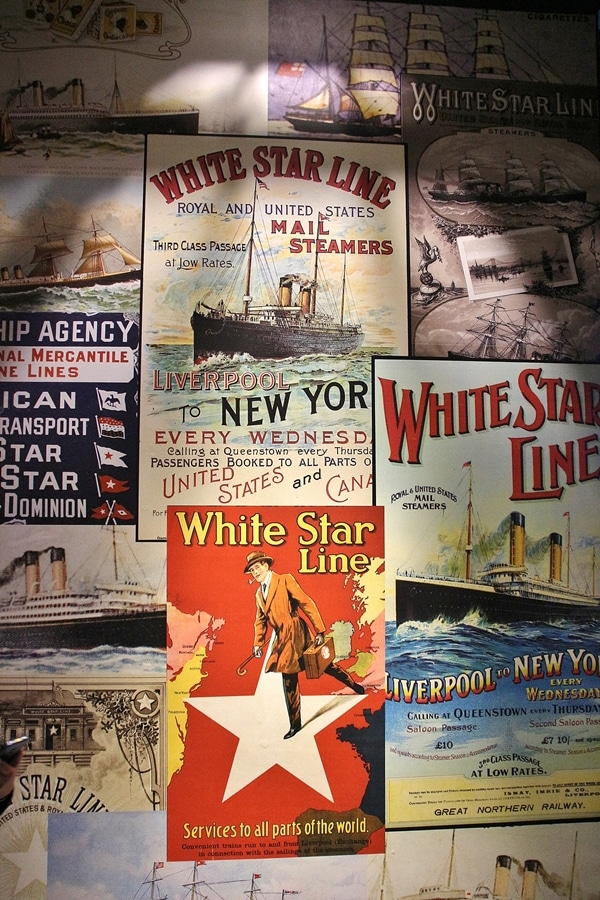 a variety of old signs for White Star Line