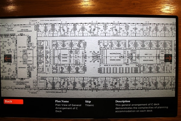 another section of the blueprint for the Titanic