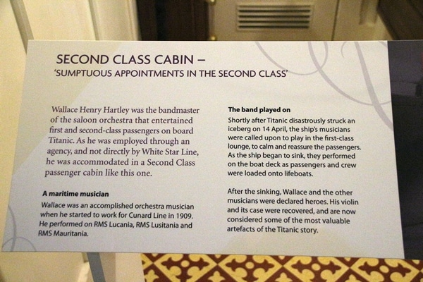 A close up of sign about second class cabins