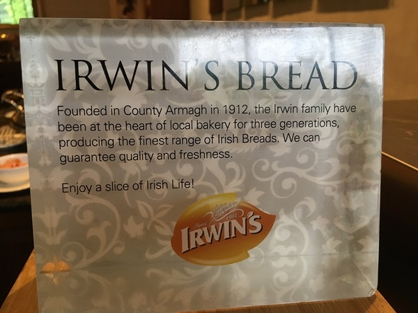a sign that says Irwin\'s Bread