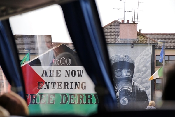 a wall painted to say You Are Now Entering Free Derry