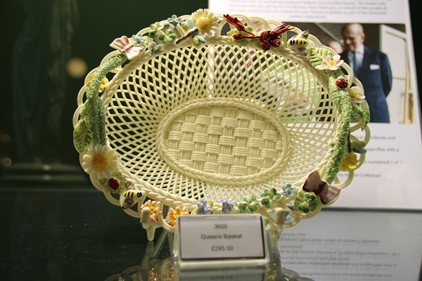 a lattice style pottery basket