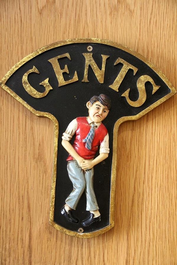 a door sign for the Gents bathroom