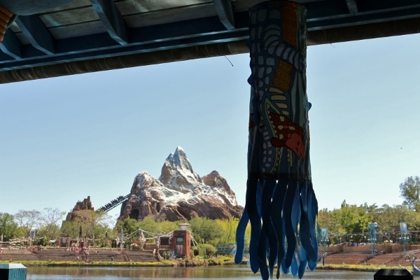view of Expedition Everest from Flame Tree BBQ