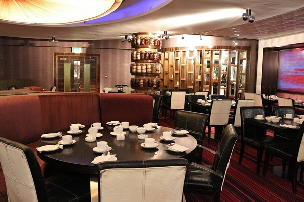 interior of a restaurant dining room