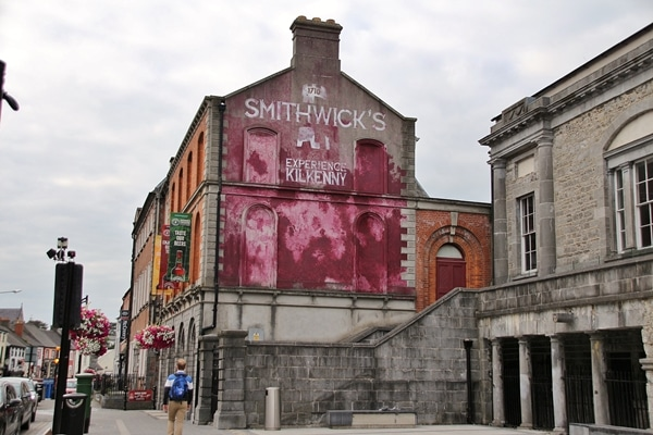 A large brick building that says Smithwick\'s on it
