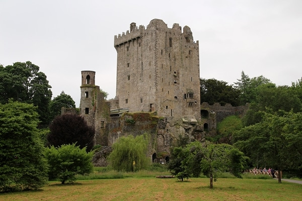 Blarney Castle surrounded by trees