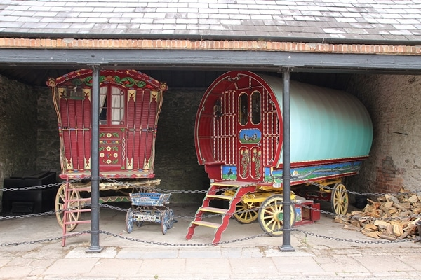 old colorful carriages
