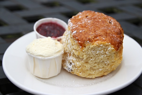 side view of a very large scone