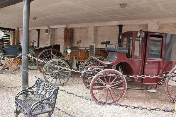 a row of old carriages