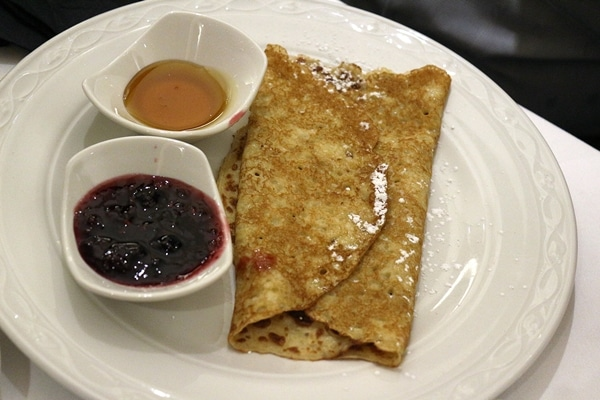 a crepe on a plate