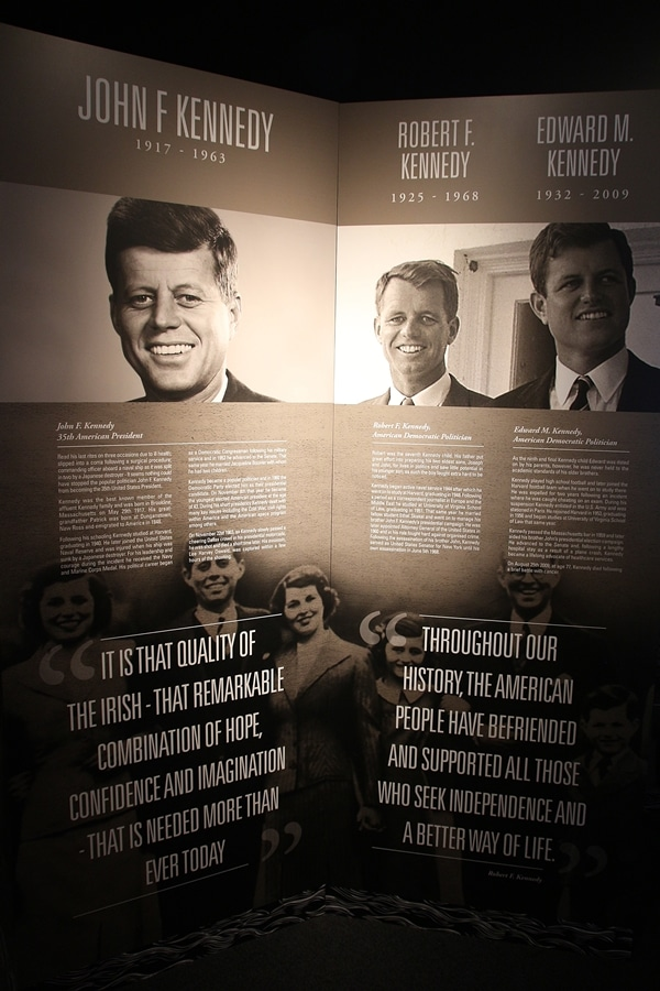 photos of the Kennedys with text about them