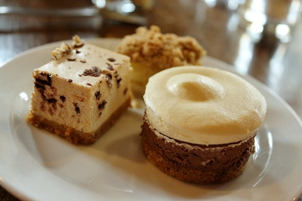 a small selection of desserts on a plate