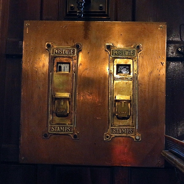 old copper mail slots
