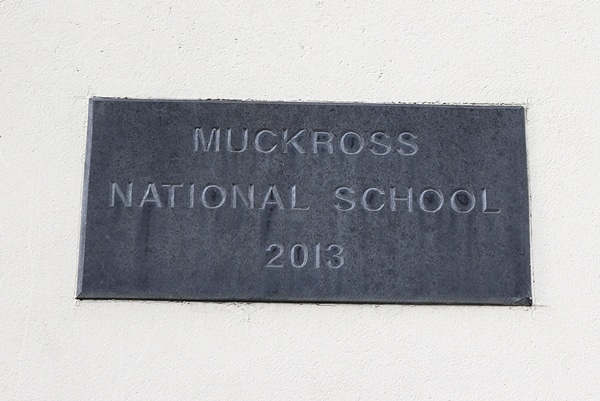 A sign that says Muckross National School 2013