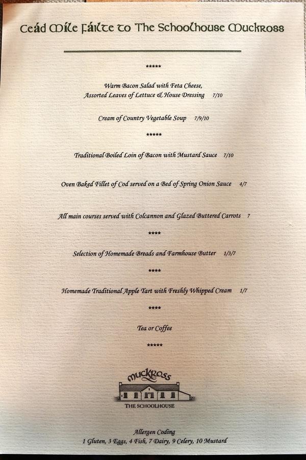 A close up of a food menu