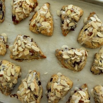 Fresh cherry almond scones