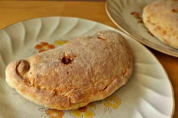 a calzone on a plate