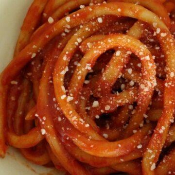 Pinci (pici) noodles / pasta