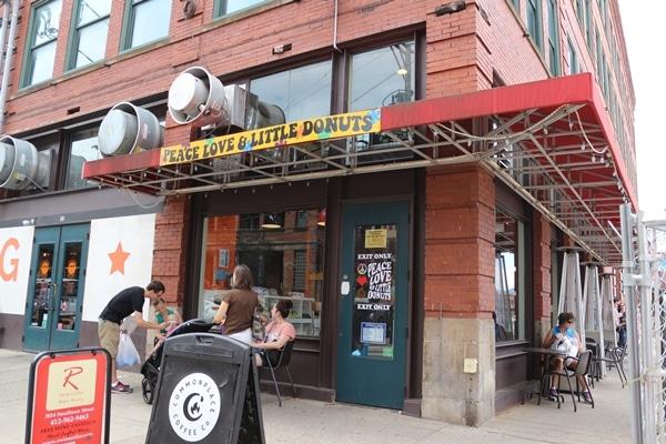 exterior of a donut shop