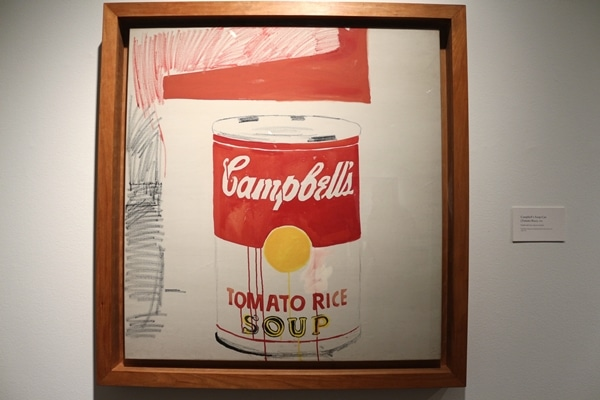 a Campbell\'s Soup Can painting