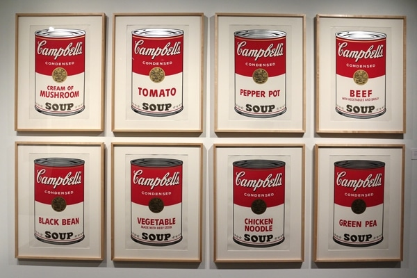 8 Campbell\'s Soup Can paintings