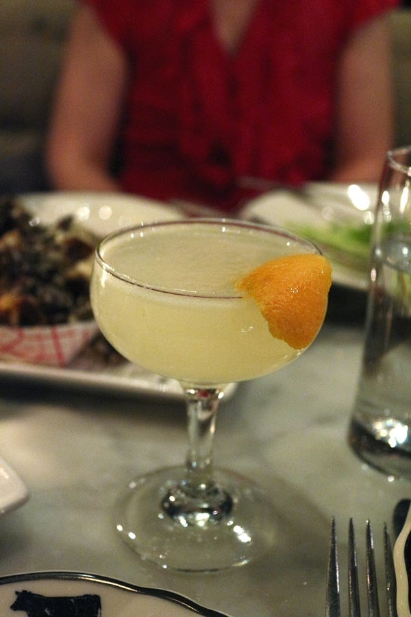 A close up of a cocktail