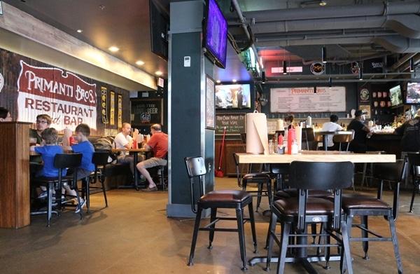 interior of Primanti Brothers restaurant