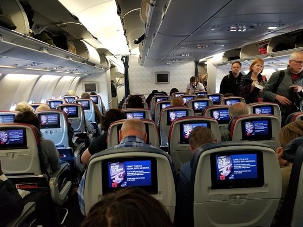the interior of a plane